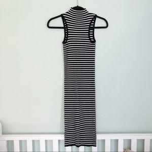 Forever 21 | Ribbed Striped bodycon midi dress M